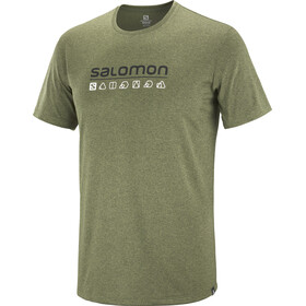 Salomon Agile T-shirt Mężczyźni, olive night/martini olive/heather